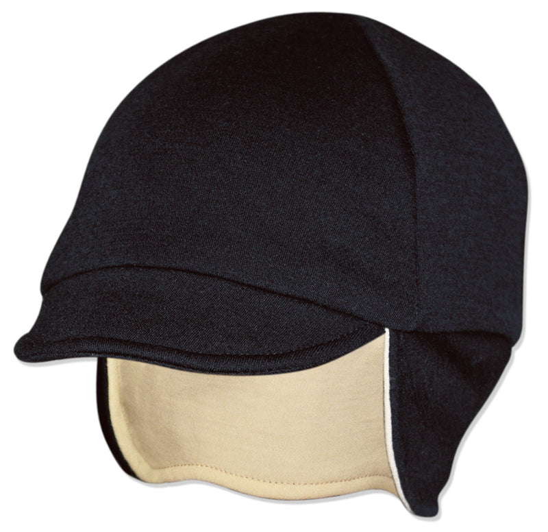 Reversible Wool Hat Eggshell/Black