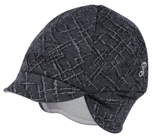 Reversible Wool Winter Hat Diamond Cut/Graphite