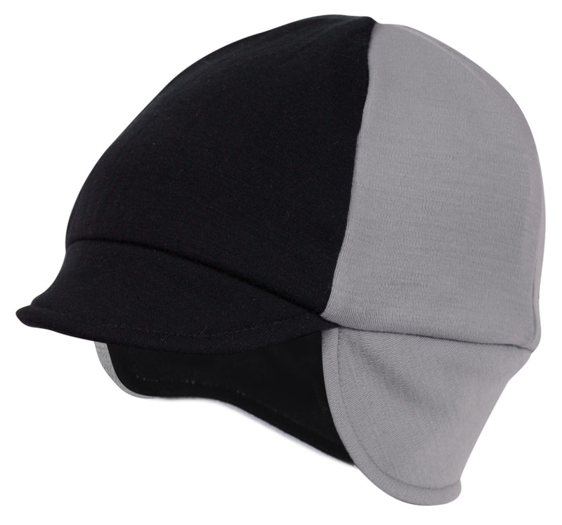 Reversible Wool Hat Silver/Black