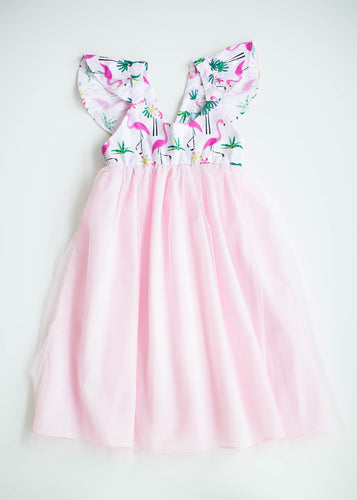 Hummingbird Hayley Dress Flamingo Tulle