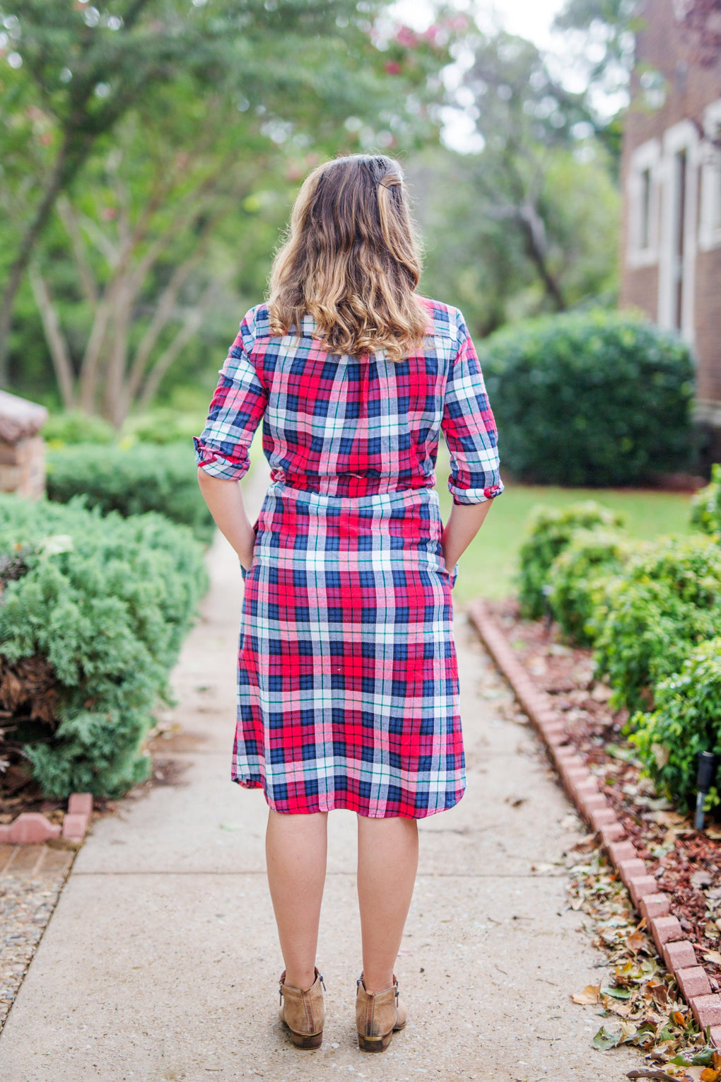 Camilla Plaid Dress