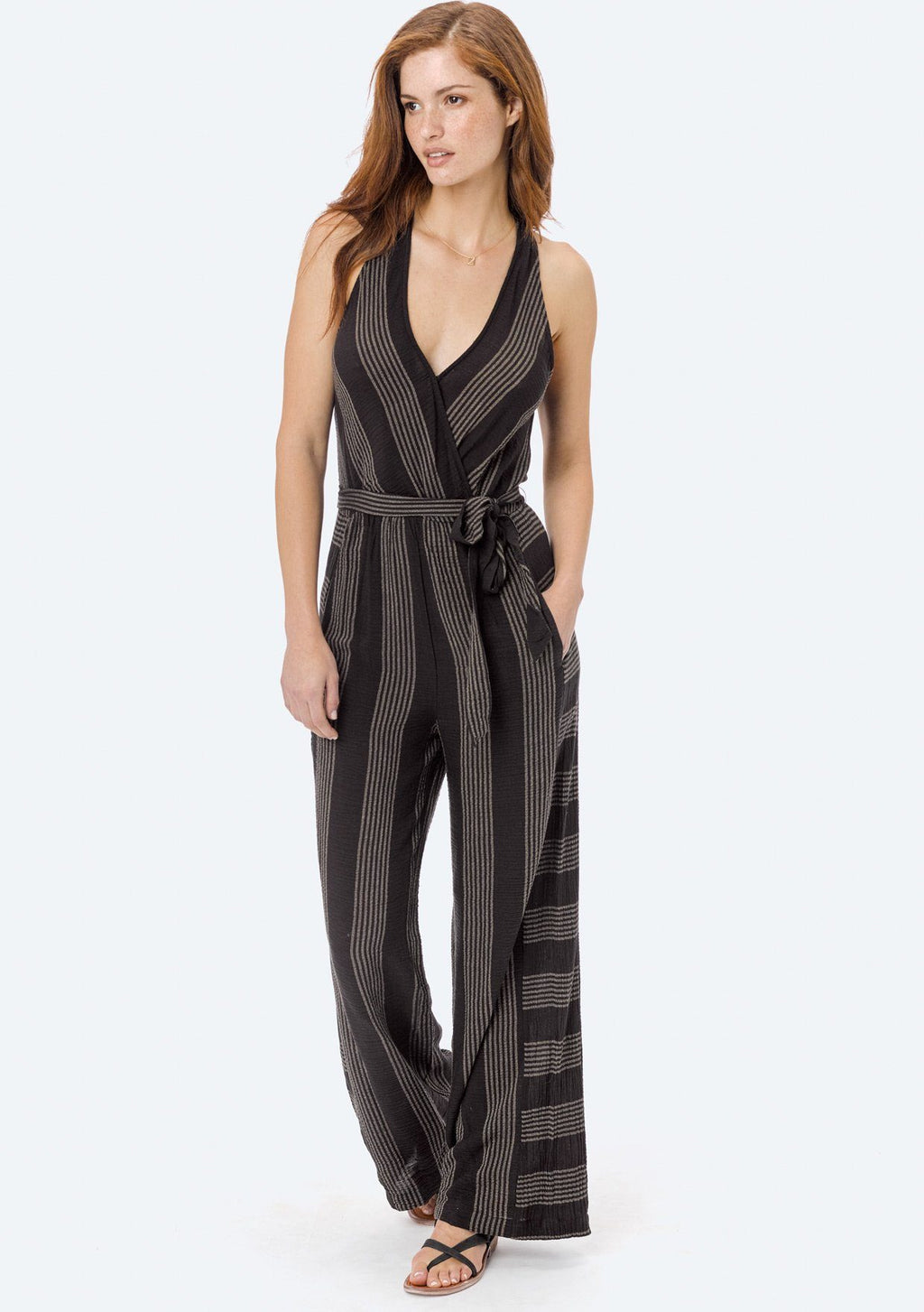 Selma Black Striped Jumpsuit