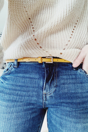 Red Lotus Skinny Effortless Belt