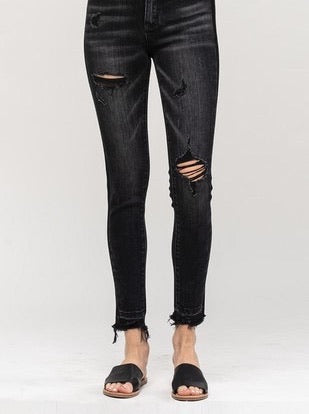 Vervet Black Distressed Jean