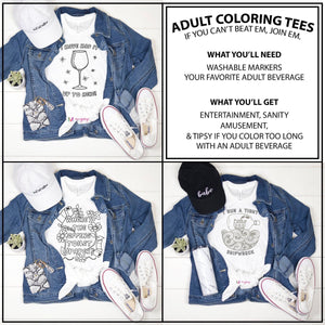 Adult Coloring Tees