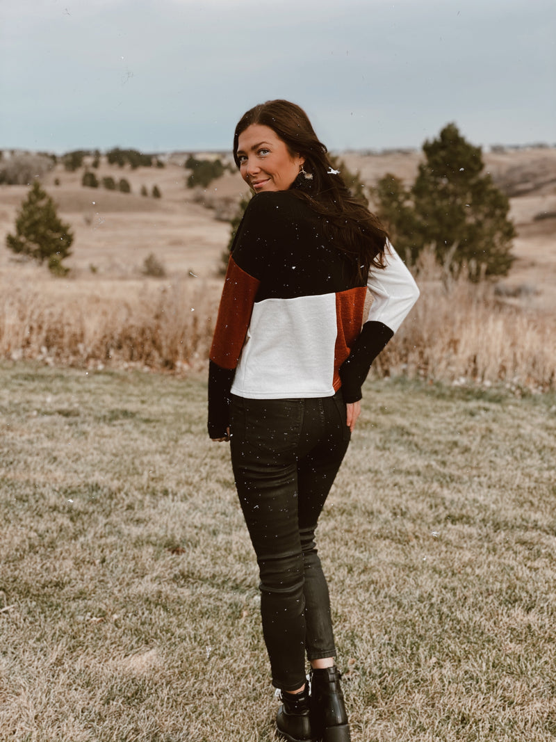 In The Mountains Color Block Sweater