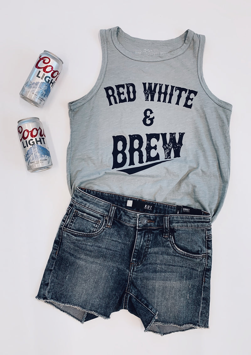Red White Brew Tank