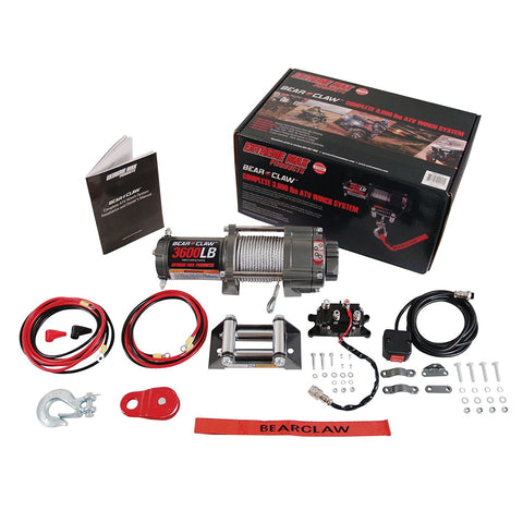Extreme Max 5600.3075 Bear Claw ATV / UTV Deluxe Winch Package - 3600 lb