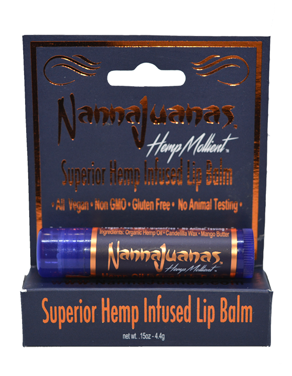 "Alt=""Lip Care  NannaJuanas® Superior Hemp Oil Infused Conditioning Lip Balm product image"""