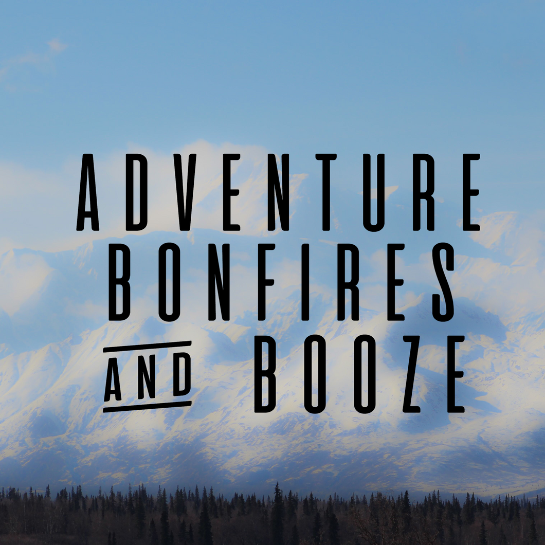 Adventure Bonfires And Booze Decal Sticker