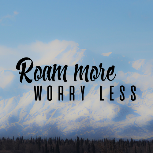Roam More Worry Less Decal Sticker