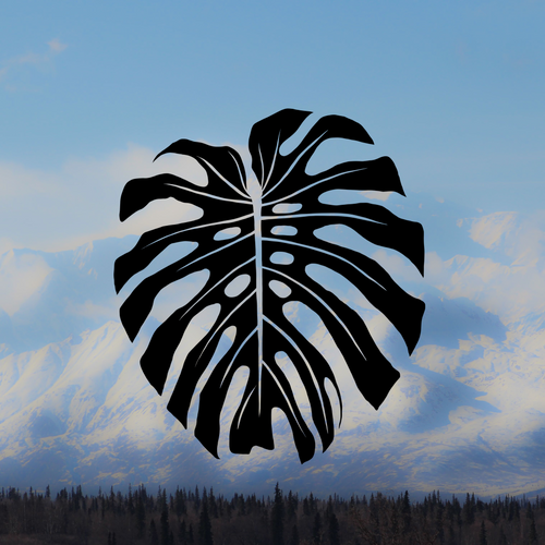 Monstera Leaf Decal Sticker