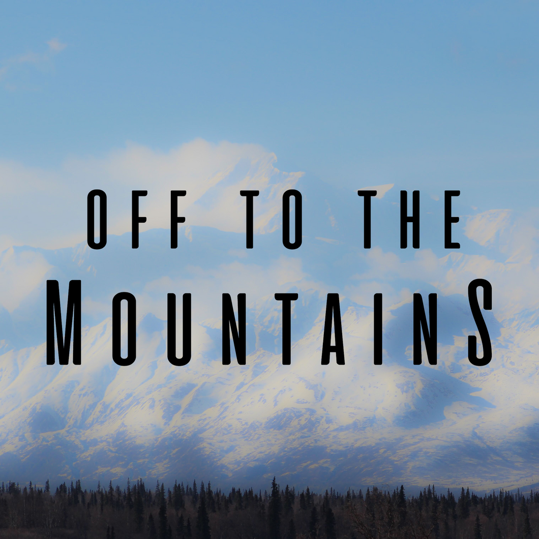 Off To The Mountains Decal Sticker