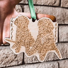 Custom Engraved Wooden Ornament-2 Subjects