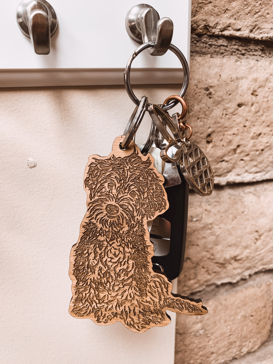 Engraved Wooden Keychain