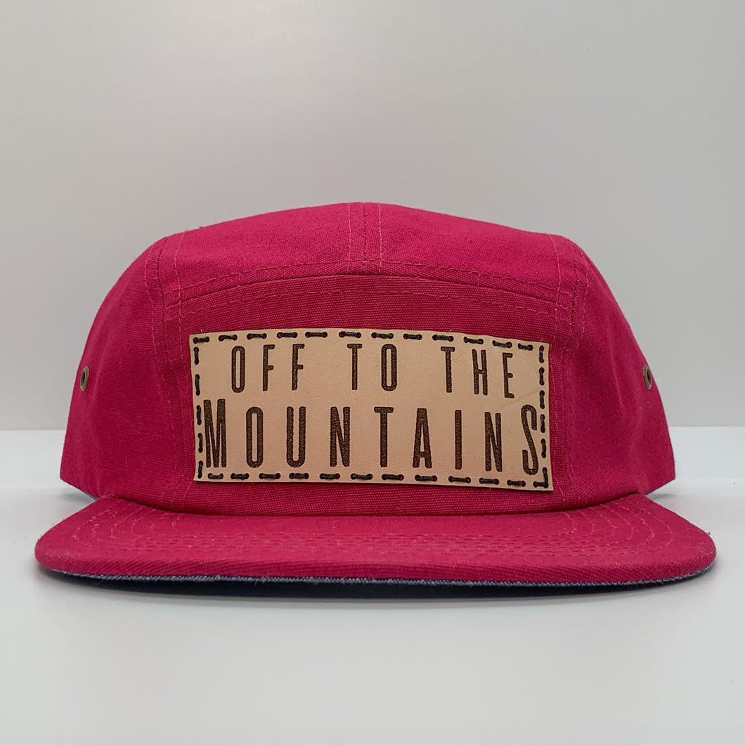 SALE - Off To The Mountains 5 Panel Hat