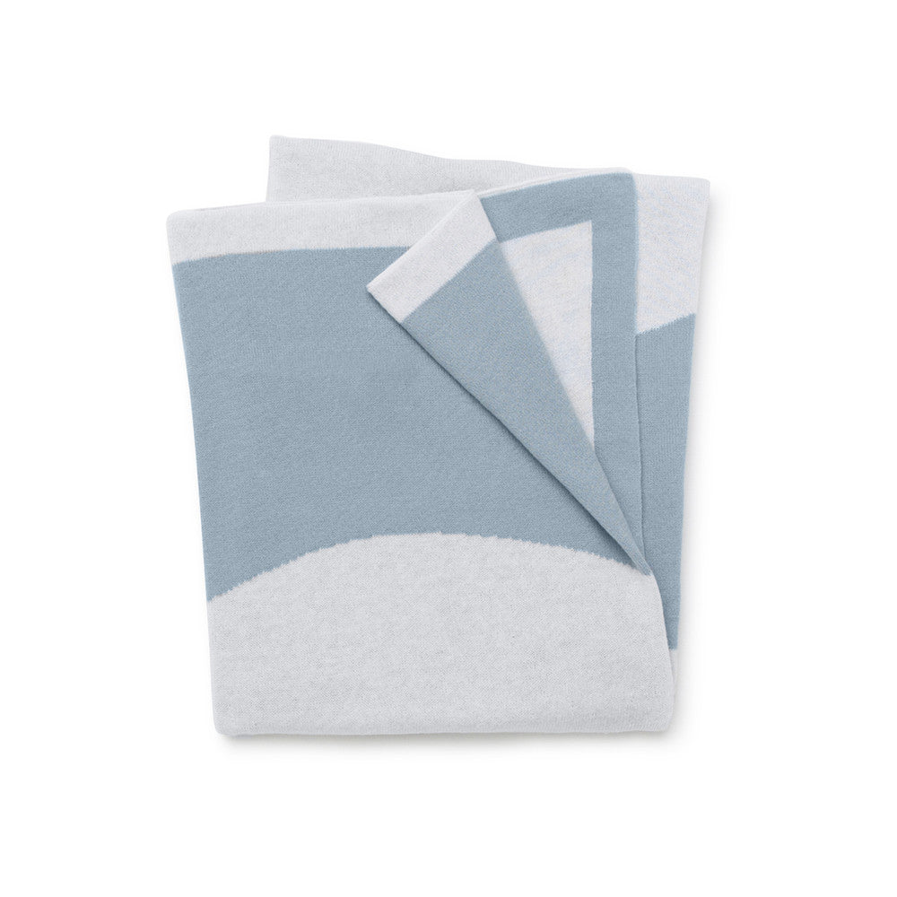 Circle Reversible Junior Throw / Cot Blanket - Blue