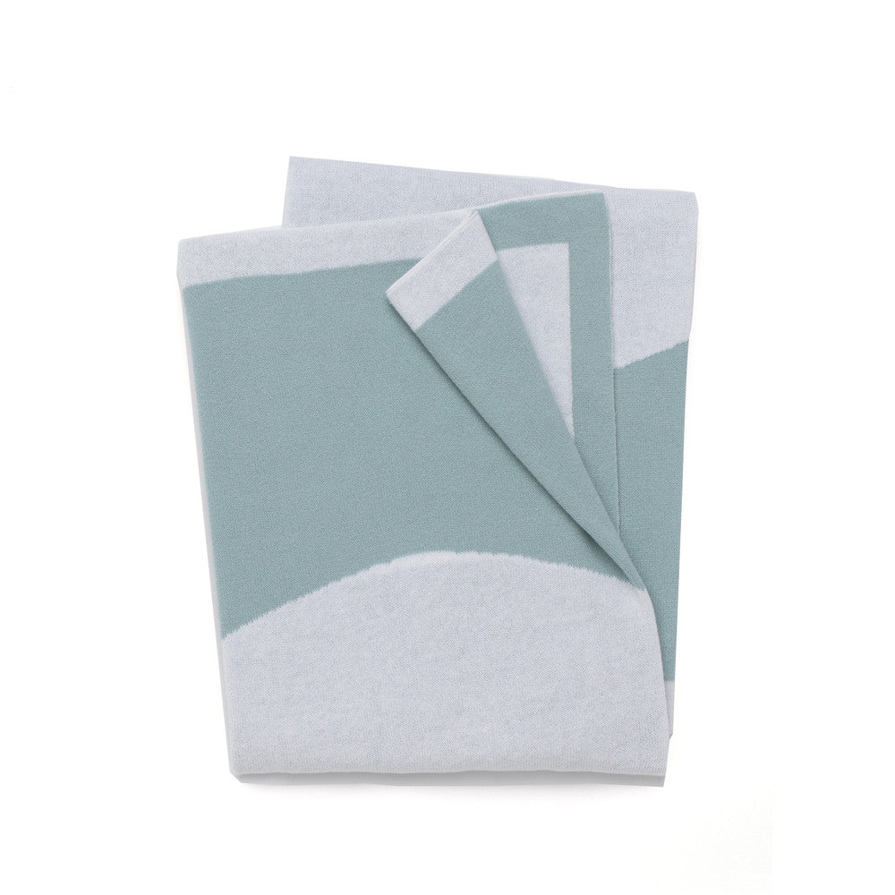Circle Reversible Junior Throw / Cot Blanket - Mint