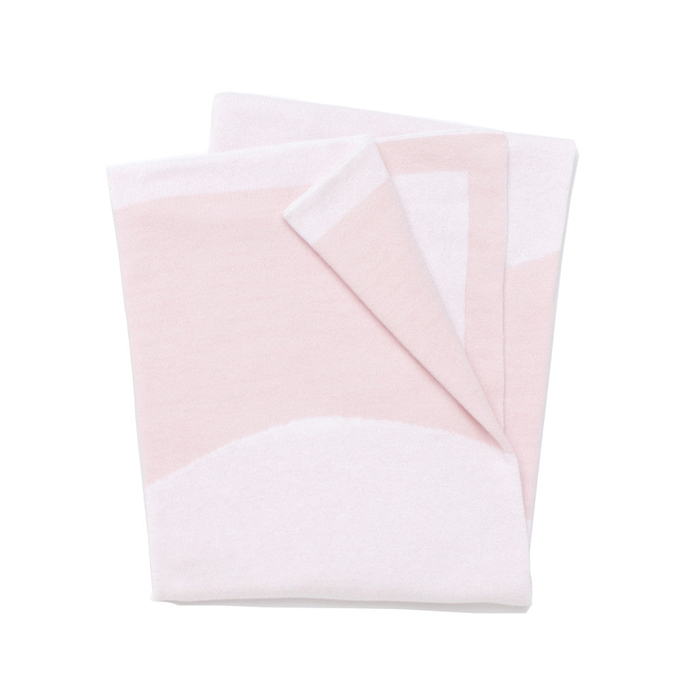 Circle Reversible Throw Blanket - Pink