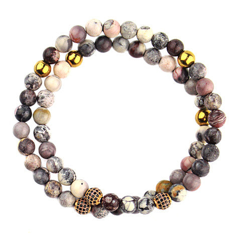 Jasper Natural Fine Bracelet with Zircon
