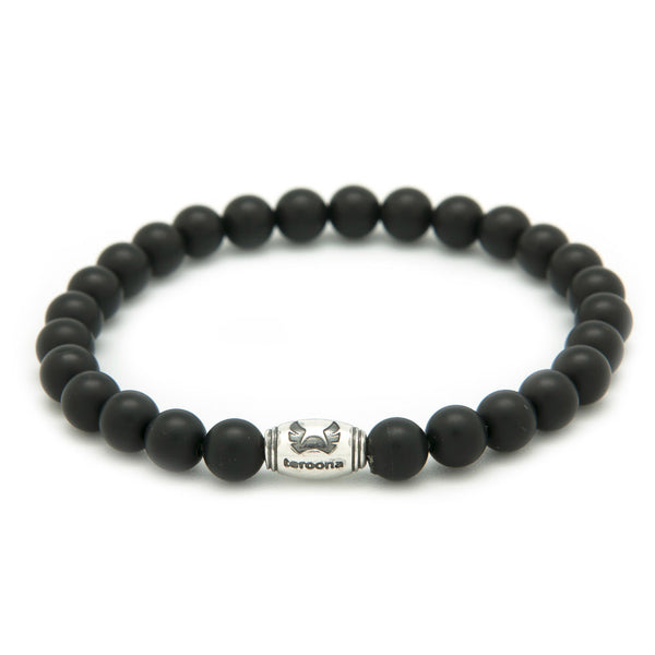 Teroona Matte Black Natural Stone Beads Bracelet