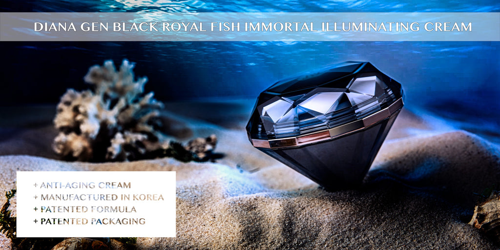 Lui & Lei Diana Gen Black Royal Fish Immortal Illuminating Cream, a Korean anti-aging cream