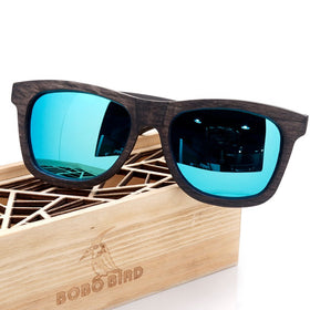 BB2140 - Natural Frame Wooden Polarized Sunglass for Men and Women with Gift Box