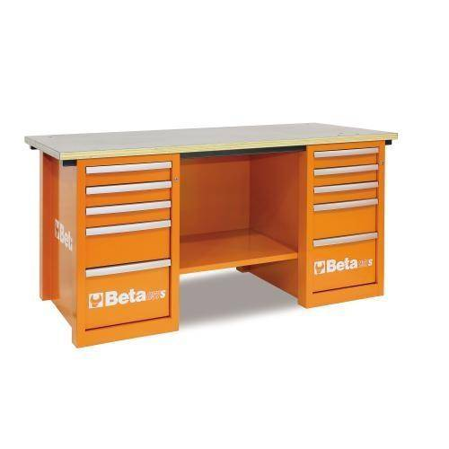 Beta Tools C57S C/O-MASTERCARGO WORKBENCH ORANGE - Garage Tools Storage