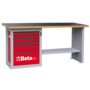 "Beta Tools C59A-""ENDURANCE"" WORKBENCH 6 DRAWERS"