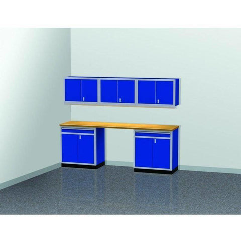 Image of Moduline Garage PRO II Cabinet Combo 6 Piece 9 Foot Wide #PGC009-03X - Garage Tools Storage