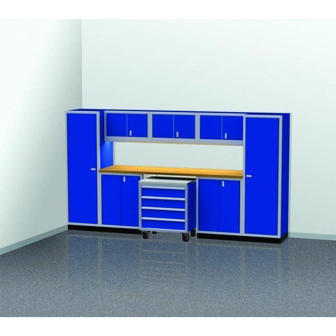 Image of Moduline Garage PRO II Cabinet Combo 9 Piece 12 Foot Wide #PGC012-04X - Garage Tools Storage