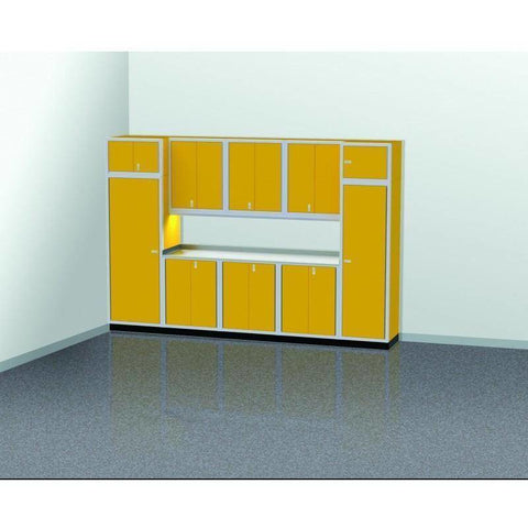 Image of Moduline Garage PRO II Cabinet Combo 11 Piece 12 Foot Wide #PGC012-05X - Garage Tools Storage