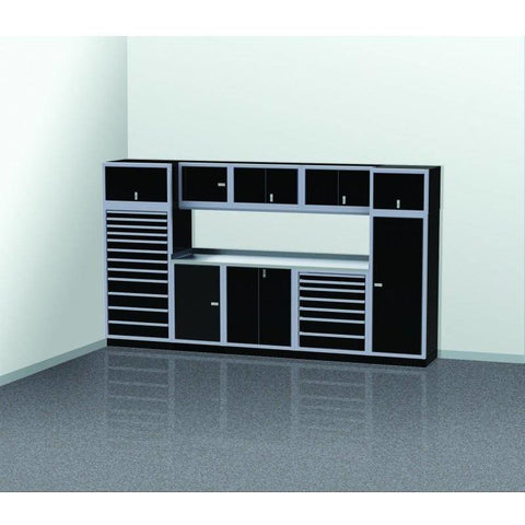 Image of Moduline Garage PRO II Cabinet Combo 11 Piece 12 Foot Wide #PGC012-06X - Garage Tools Storage