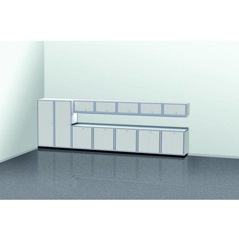 Image of Moduline Garage PRO II Cabinet Combo 13 Piece 20 Foot Wide #PGC020-01X - Garage Tools Storage