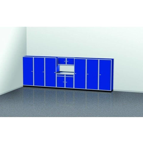 Image of Moduline Garage PRO II Cabinet Combo 11 Piece 20 Foot Wide #PGC020-03X - Garage Tools Storage