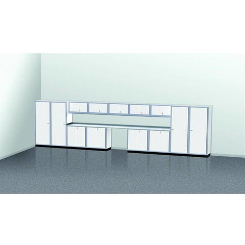 Image of Moduline Garage PRO II Cabinet Combo 14 Piece 25 Foot Wide #PGC025-01X - Garage Tools Storage