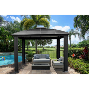 Paragon Outdoor Cambridge 12x12 Hard Top Siena Gazebo GZ3D