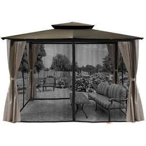 Paragon Barcelona Gazebo Grey Top Curtains Mosquito Netting GZ584EGK2