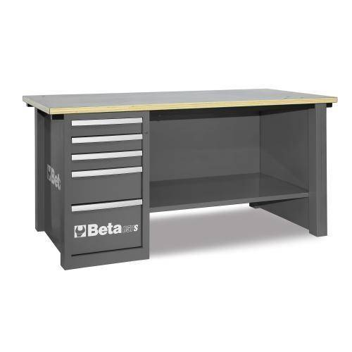 Beta Tools C57S D/G-MASTERCARGO WORKBENCH GREY - Garage Tools Storage