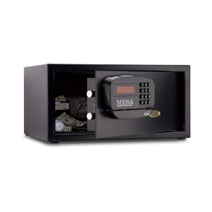MESA Safes Hotel Safe 1.2 cu. ft. w/ Card Swipe Black,MHRC916E-BLK