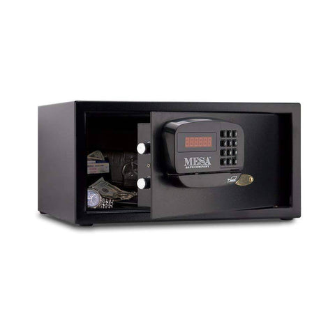 Image of MESA Safes Hotel Safe 1.2 cu. ft. w/ Card Swipe Black,MHRC916E-BLK