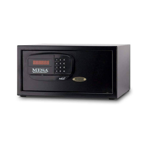 MESA Safes Hotel Safe w/ Card Swipe Black,MHRC916E-BLK
