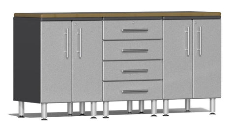 Image of Ulti-MATE Garage 2.0 Series 4-Piece Workstation Kit in Stardust Silver Metallic