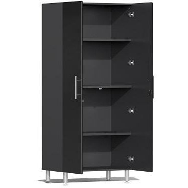 Ulti-MATE Garage 2.0 Ultimate 5-Pc Tall Cabinet Kit Black Metallic