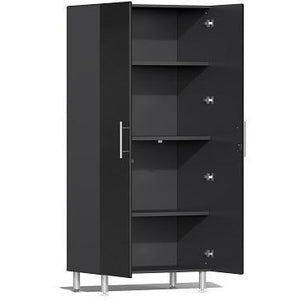 Ulti-MATE Garage 2.0 Ultimate 2-Pc Tall Cabinet Kit Black Metallic