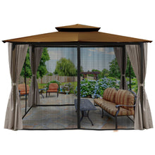 Paragon Barcelona Gazebo w/ Cocoa Top Curtains & Mosquito Net GZ584ECK2