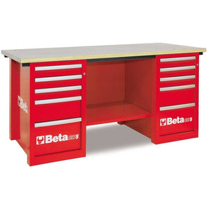 Beta Tools C57S C/R-MASTERCARGO WORKBENCH RED - Garage Tools Storage