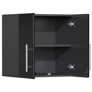 Ulti-MATE Garage 2.0 Series 10-Piece Cabinet Kit with Bamboo Worktop in Midnight Black Metallic