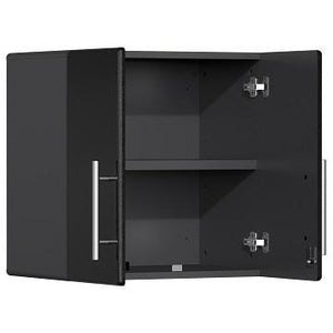 Ulti-MATE Garage 2.0 Ultimate 4-Pc Wall Cabinet Kit Black Metallic