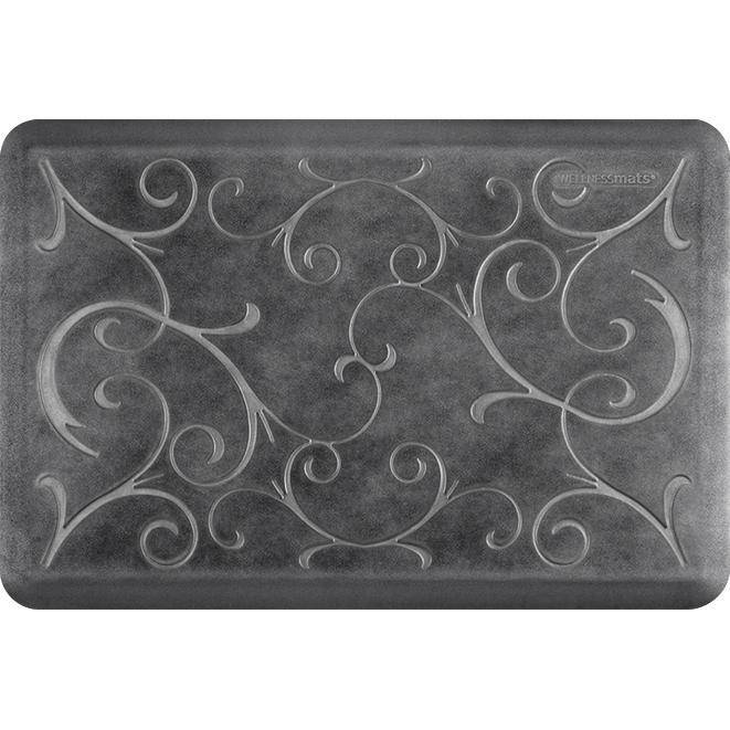 Wellnessmats Bella Estates Shades of Silver EB32WMRBNBLK,Onyx